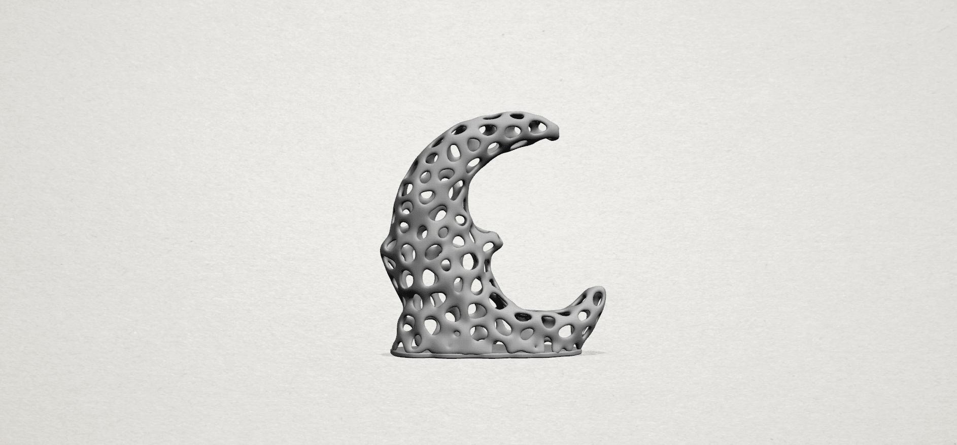 Voronoi Moon - A01.png Download free STL file Voronoi Moon • Design to 3D print, GeorgesNikkei