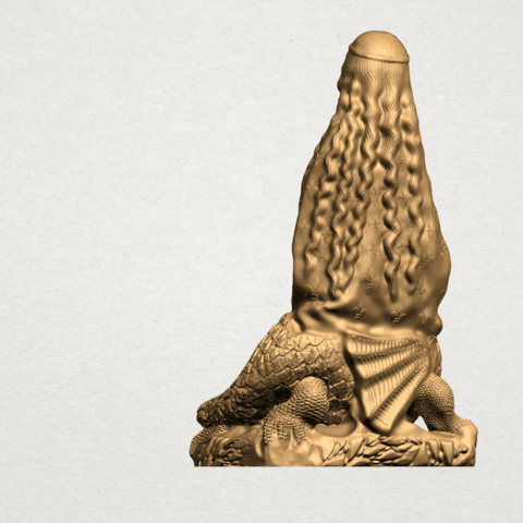 Saint Margaret A04.png Download free STL file Saint Margaret  • Template to 3D print, GeorgesNikkei
