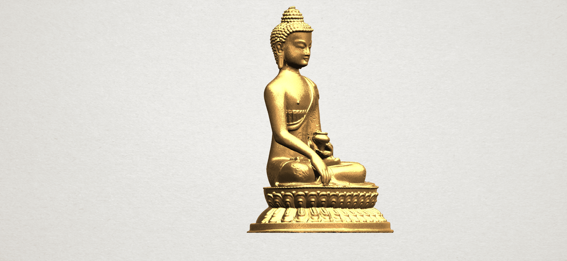 Thai Buddha (iii) A09.png Download free STL file Thai Buddha 03 • 3D printing object, GeorgesNikkei