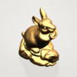 Chinese Horoscope04-03.png Télécharger fichier STL gratuit Horoscope Chinois 04 Lapin • Design à imprimer en 3D, GeorgesNikkei