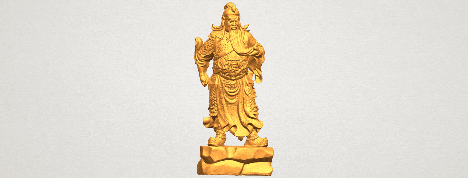 TDA0330 Guan Gong (iii) A01.png Download free STL file Guan Gong 03 • 3D printable template, GeorgesNikkei