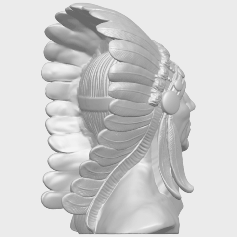 09_TDA0489_Red_Indian_03_BustA08.png Download free STL file Red Indian 03 • 3D printer model, GeorgesNikkei