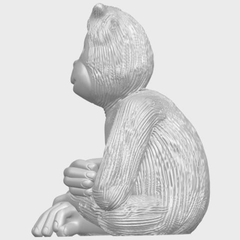 09_TDA0606_ChimpanzeeA04.png Télécharger fichier STL gratuit Chimpanzé • Design imprimable en 3D, GeorgesNikkei