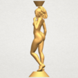 Free 3d print files Naked girl with vase on top 02, GeorgesNikkei