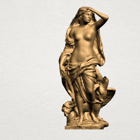 Download free 3D printing files Naked Girl - With Eagle, GeorgesNikkei