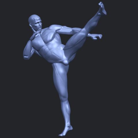 06_TDA0547_Man_KickingB02.png Télécharger fichier STL gratuit Man Kicking • Objet pour impression 3D, GeorgesNikkei