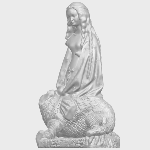 St Margaret 88mmA02.png Download free STL file Saint Margaret  • Template to 3D print, GeorgesNikkei