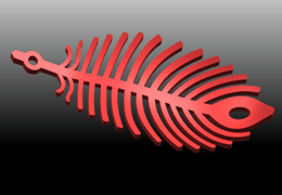 01.png Download free STL file Earing -Leaf • 3D printer template, GeorgesNikkei