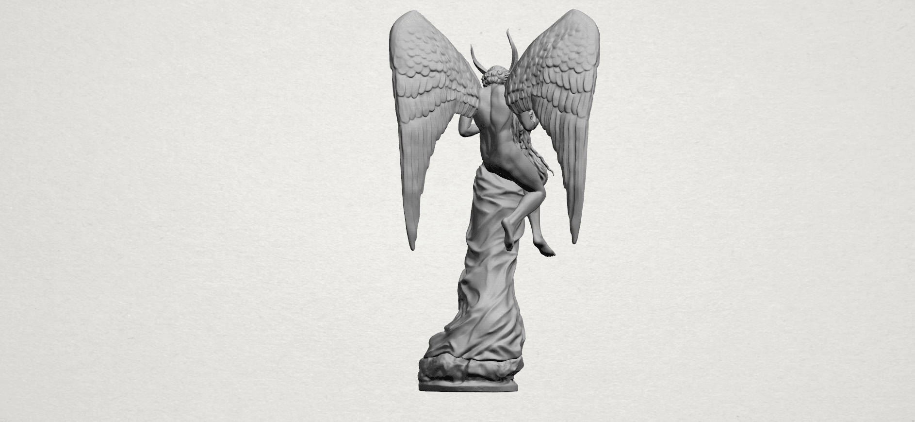 Angel and devil - A09.png Download free 3DS file Angel and devil • 3D print template, GeorgesNikkei