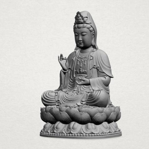 Bodhisattva Buddha - A02.png Download free STL file Avalokitesvara Bodhisattva 01 • 3D print object, GeorgesNikkei