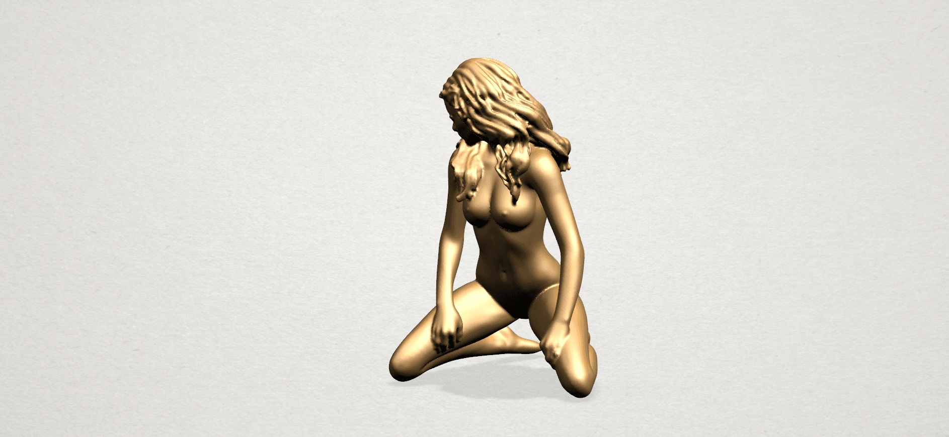 Naked girl - bended knees (II)-B02.png Download free STL file Naked girl - Bended Knees 02 -TOP MODEL • 3D printing object, GeorgesNikkei