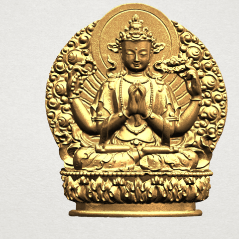 Télécharger fichier 3D gratuit Avalokitesvara Bodhisattva (multi-mains) 03, GeorgesNikkei