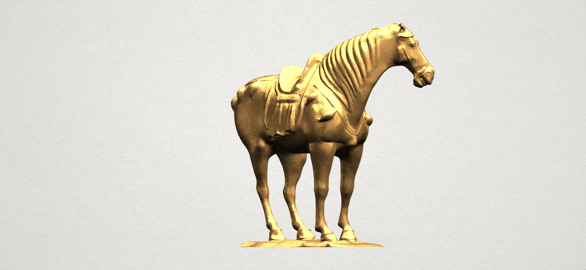 Horse (iv) A06.png Télécharger fichier STL gratuit Cheval 04 • Design à imprimer en 3D, GeorgesNikkei