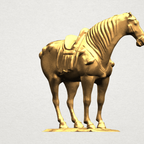 Horse (iv) A06.png Download free STL file Horse 04 • 3D print design, GeorgesNikkei