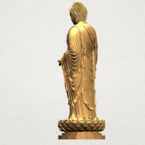 Gautama Buddha Standing (ii) A04.png Download free STL file Gautama Buddha Standing 02 • 3D printer design, GeorgesNikkei