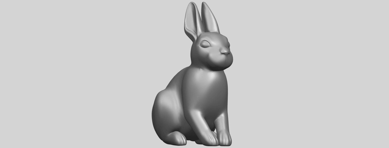 TDA0755_Rabbit_03A08.png Télécharger fichier STL gratuit Lapin 03 • Design à imprimer en 3D, GeorgesNikkei