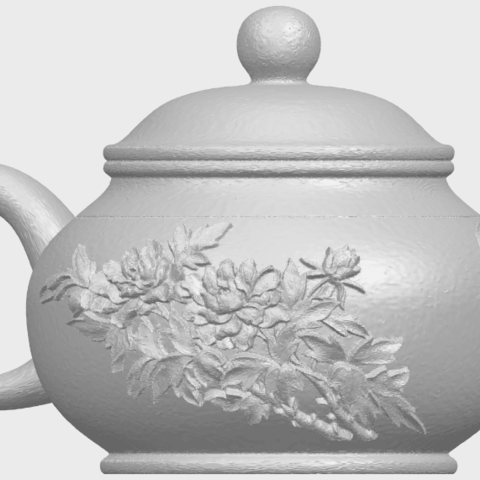 02_TDA0324_Tea_Pot_iiiA07.png Download free STL file Tea Pot 03 • 3D printing template, GeorgesNikkei