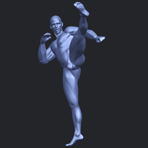 06_TDA0547_Man_KickingB03.png Télécharger fichier STL gratuit Man Kicking • Objet pour impression 3D, GeorgesNikkei