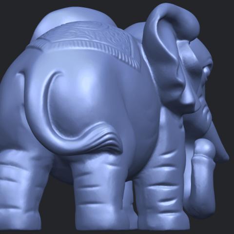 Elephant_03_-122mmB08.png Télécharger fichier STL gratuit Éléphant 03 • Modèle imprimable en 3D, GeorgesNikkei
