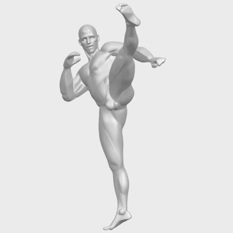06_TDA0547_Man_KickingA03.png Télécharger fichier STL gratuit Man Kicking • Objet pour impression 3D, GeorgesNikkei