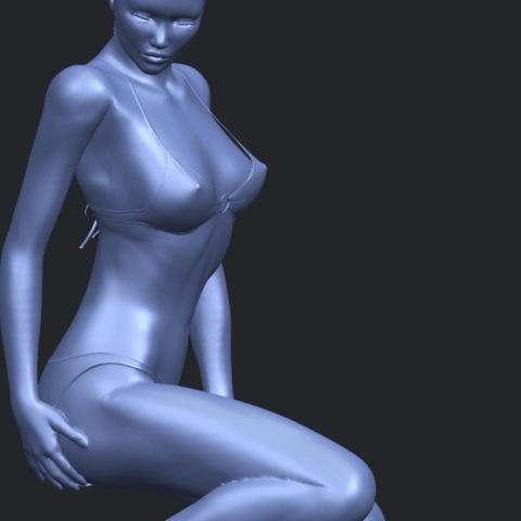 15_TDA0634_Naked_Girl_D04A10.png Download free STL file Naked Girl D04 • 3D printable template, GeorgesNikkei