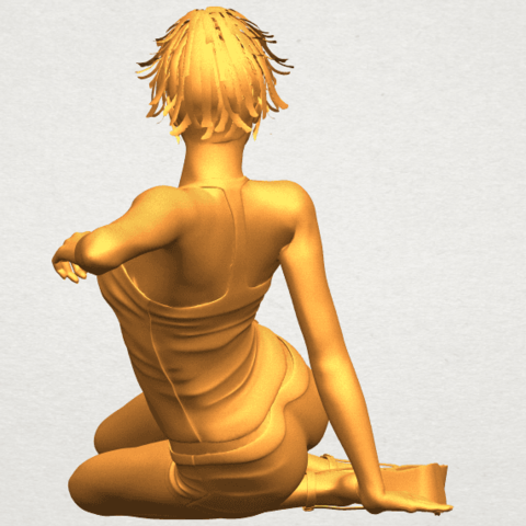A06.png Download free STL file Naked Girl F08 • Object to 3D print, GeorgesNikkei
