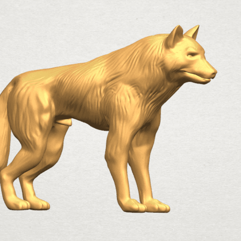 TDA0610 Wolf A06.png Download free STL file Wolf • 3D printable design, GeorgesNikkei