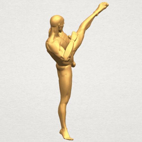 TDA0547 Man Kicking A05.png Télécharger fichier STL gratuit Man Kicking • Objet pour impression 3D, GeorgesNikkei