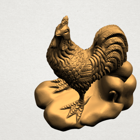 TDA0051j Chinese Horoscope10-A01.png Download free STL file Chinese Horoscope 10 Chicken - TOP MODEL • 3D printable design, GeorgesNikkei