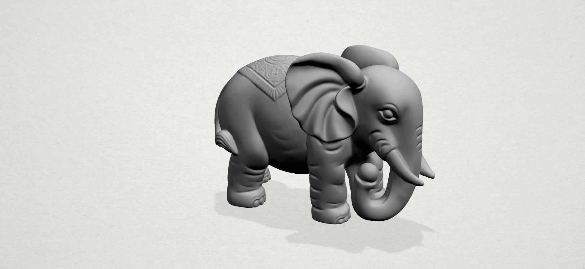 Elephant 03-A05.png Télécharger fichier STL gratuit Éléphant 03 • Modèle imprimable en 3D, GeorgesNikkei