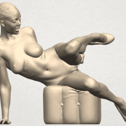Free 3D printer designs  Naked Girl B04, GeorgesNikkei