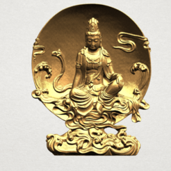 Free 3d printer designs Avalokitesvara Buddha  (Moon Background) , GeorgesNikkei