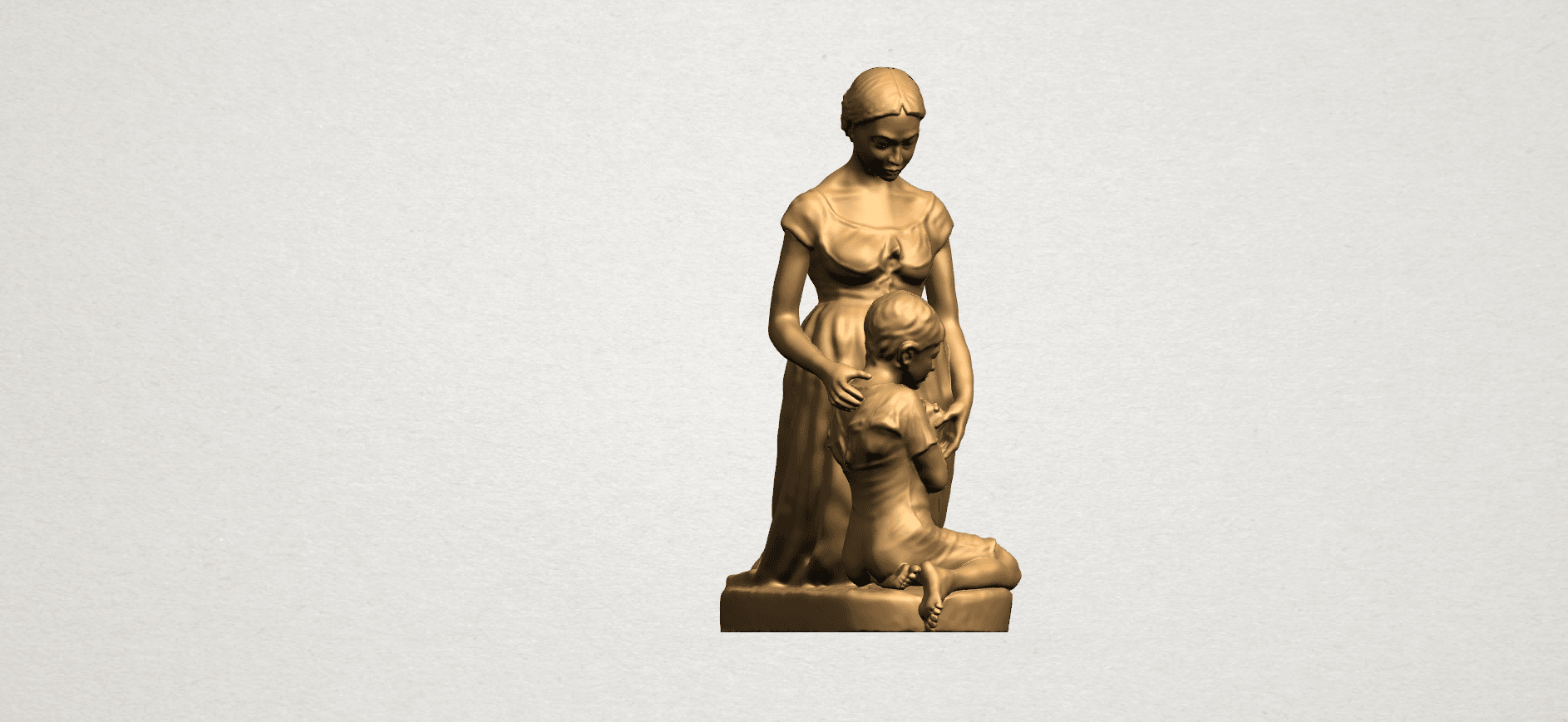 Mother-Child (ii) A07.png Download free STL file Mother and Child 02 • 3D printable design, GeorgesNikkei