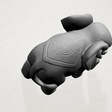 Elephant 03-A03.png Télécharger fichier STL gratuit Éléphant 03 • Modèle imprimable en 3D, GeorgesNikkei