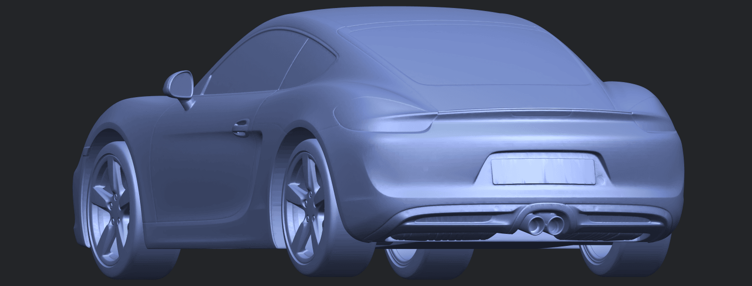 16_TDA0304_Porche_01_Length438mmB03.png Download free STL file Porche 01 • 3D printable object, GeorgesNikkei