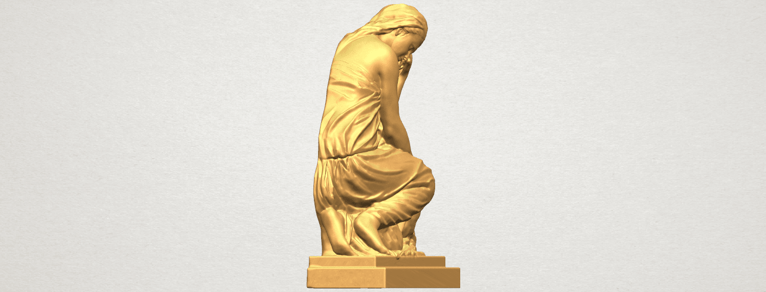 TDA0548 Sculpture of a girl 02 A04.png Download free STL file Sculpture of a girl 02 • 3D printable template, GeorgesNikkei