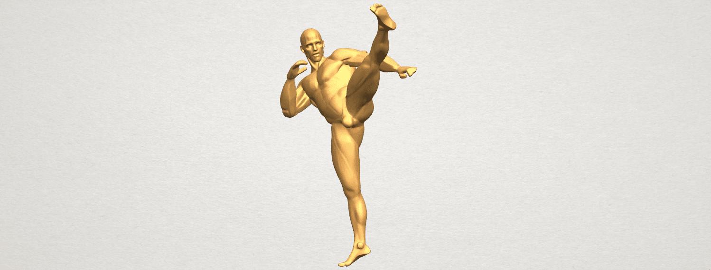 TDA0547 Man Kicking A02.png Télécharger fichier STL gratuit Man Kicking • Objet pour impression 3D, GeorgesNikkei