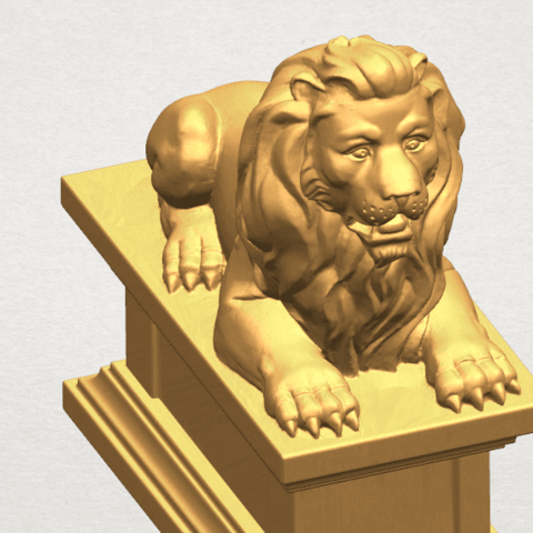 TDA0499 Lion 04 A08.png Download free STL file Lion 04 • Template to 3D print, GeorgesNikkei