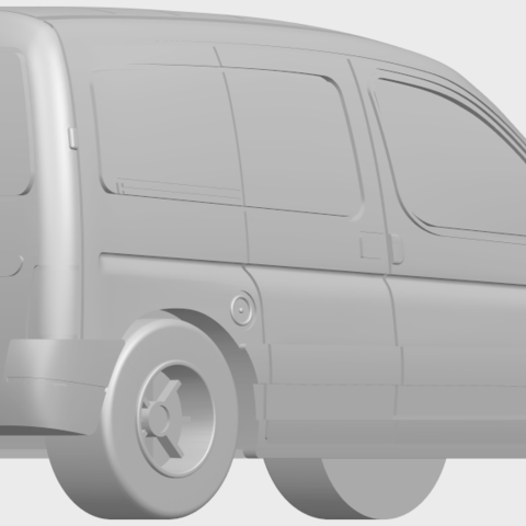 08_TDB002_1-50A05.png Download free STL file Citroen Berlingo Belgium Post • Design to 3D print, GeorgesNikkei