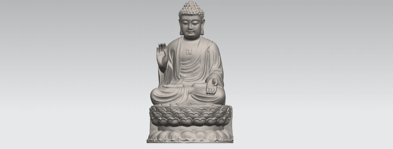 TDA0459 Gautama Buddha (iii) A01.png Download free STL file Gautama Buddha 03 • 3D printer template, GeorgesNikkei