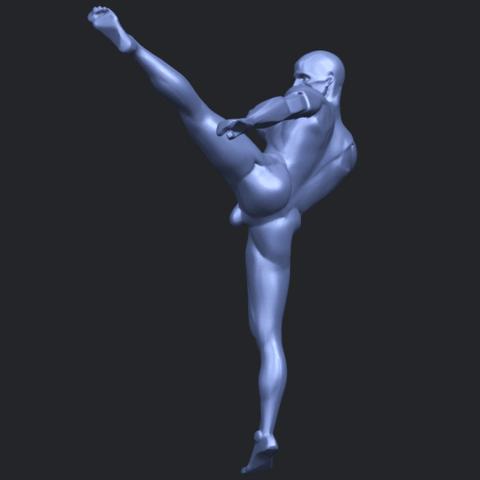 06_TDA0547_Man_KickingB05.png Télécharger fichier STL gratuit Man Kicking • Objet pour impression 3D, GeorgesNikkei