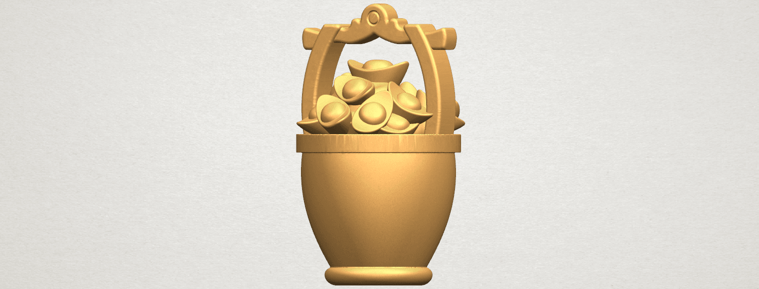 TDA0502 Gold in Bucket A02.png Download free STL file Gold in Bucket • 3D print object, GeorgesNikkei