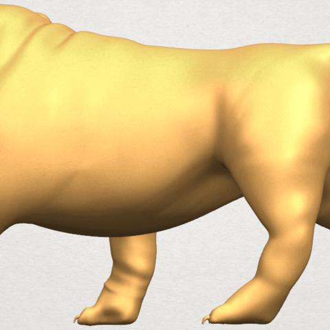 TDA0520 Bull Dog 01 A03.png Télécharger fichier STL gratuit Chien de taureau 01 • Plan pour impression 3D, GeorgesNikkei