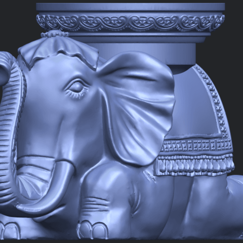 11_TDA0501_Elephant_TableB01.png Download free STL file Elephant Table • 3D printing object, GeorgesNikkei