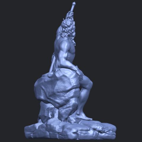 14_Naked_Warrior_88mm_(repaired)B08.png Télécharger fichier STL gratuit Guerrier nu • Plan pour impression 3D, GeorgesNikkei
