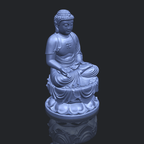 01_TDA0174_Gautama_Buddha_(ii)__88mmB00-1.png Download free STL file Gautama Buddha 02 • 3D print template, GeorgesNikkei