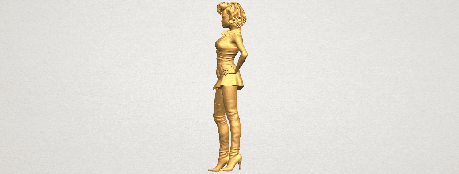 TDA0473 Beautiful Girl 07 A03.png Télécharger fichier STL gratuit Belle Fille 07 • Design à imprimer en 3D, GeorgesNikkei