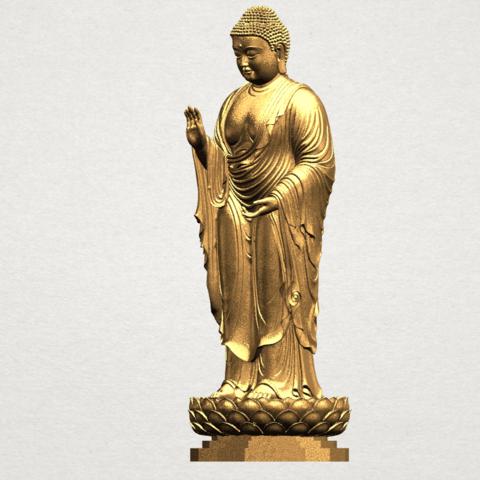 Gautama Buddha Standing (ii) A02.png Download free STL file Gautama Buddha Standing 02 • 3D printer design, GeorgesNikkei