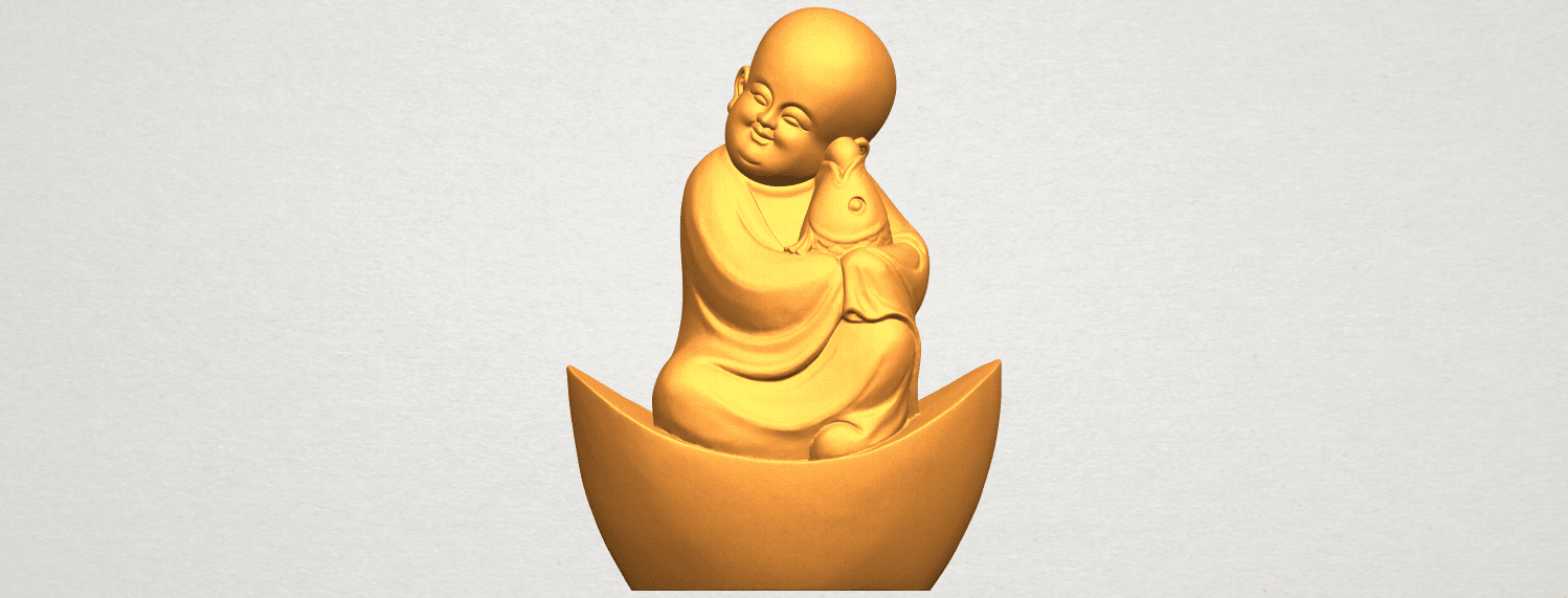 A01.png Download free STL file Little Monk 04 • 3D printer template, GeorgesNikkei