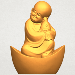 Download free STL Little Monk 04, GeorgesNikkei